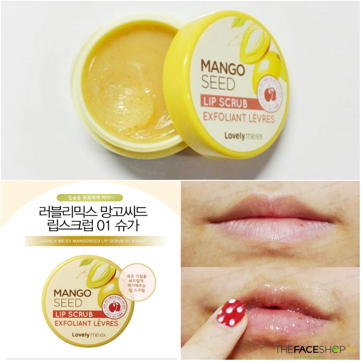 [The Face Shop] Lovely MEEX Mango Seed Lip Scrub 12g