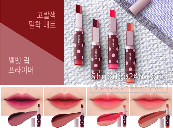 [Laneige] Son lì 2 tone Laneige X YCH Two Tone Matte Lip Bar #04 Fitting Rose