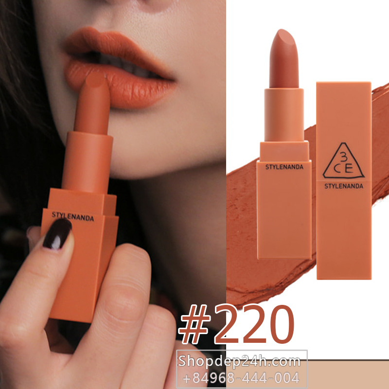3CE MOOD RECIPE MATTE LIP COLOR 2017 #220