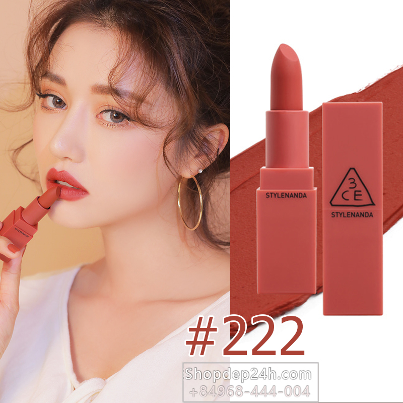 3CE MOOD RECIPE MATTE LIP COLOR 2017 #222