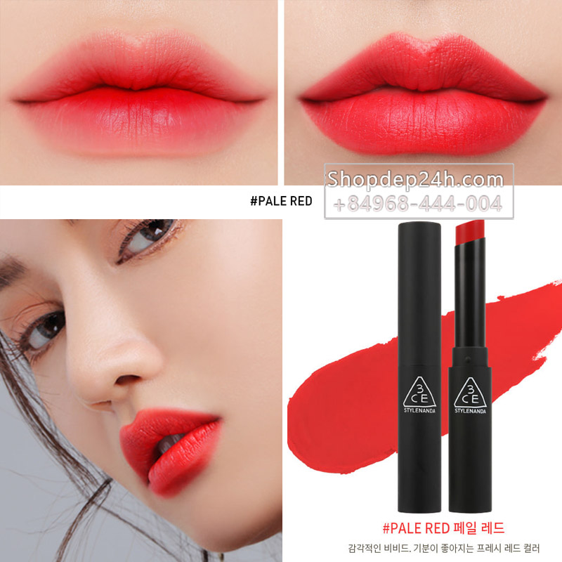 [3CE] Son thỏi 3ce Slim Velvet Lip color #Pale Red